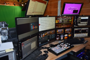 Un studio TV professionnel